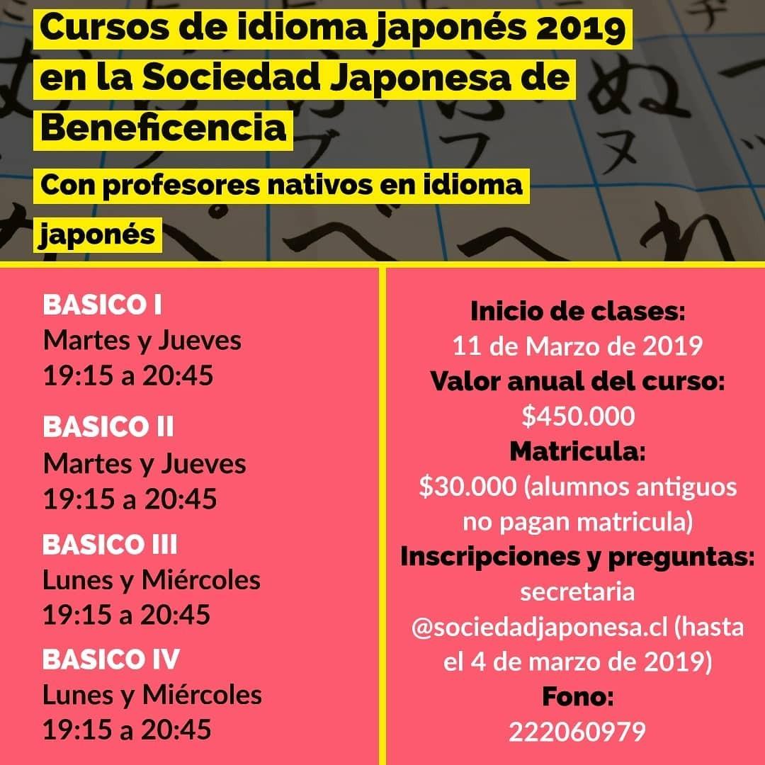 Cursos Idioma Japonés 2019