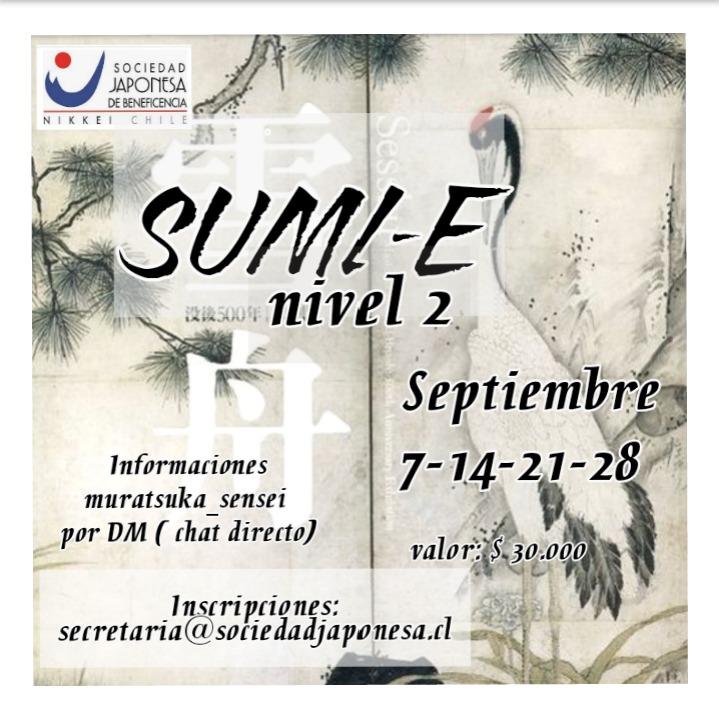 Taller Sumi-e nivel 2 Septiembre 2021 ONLINE