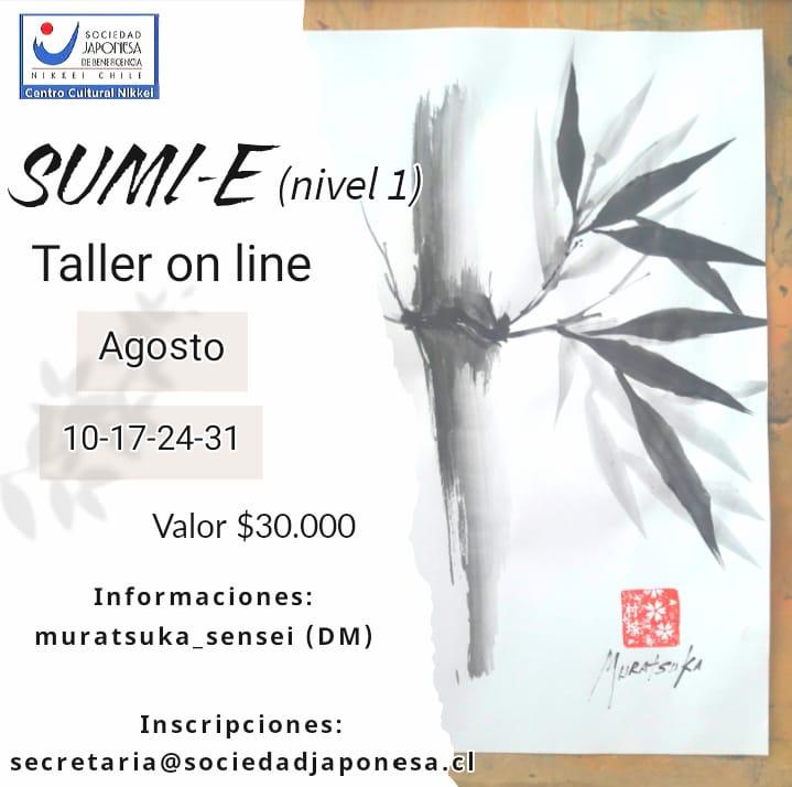 Taller Sumi-e nivel 1 Agosto 2021. ONLINE