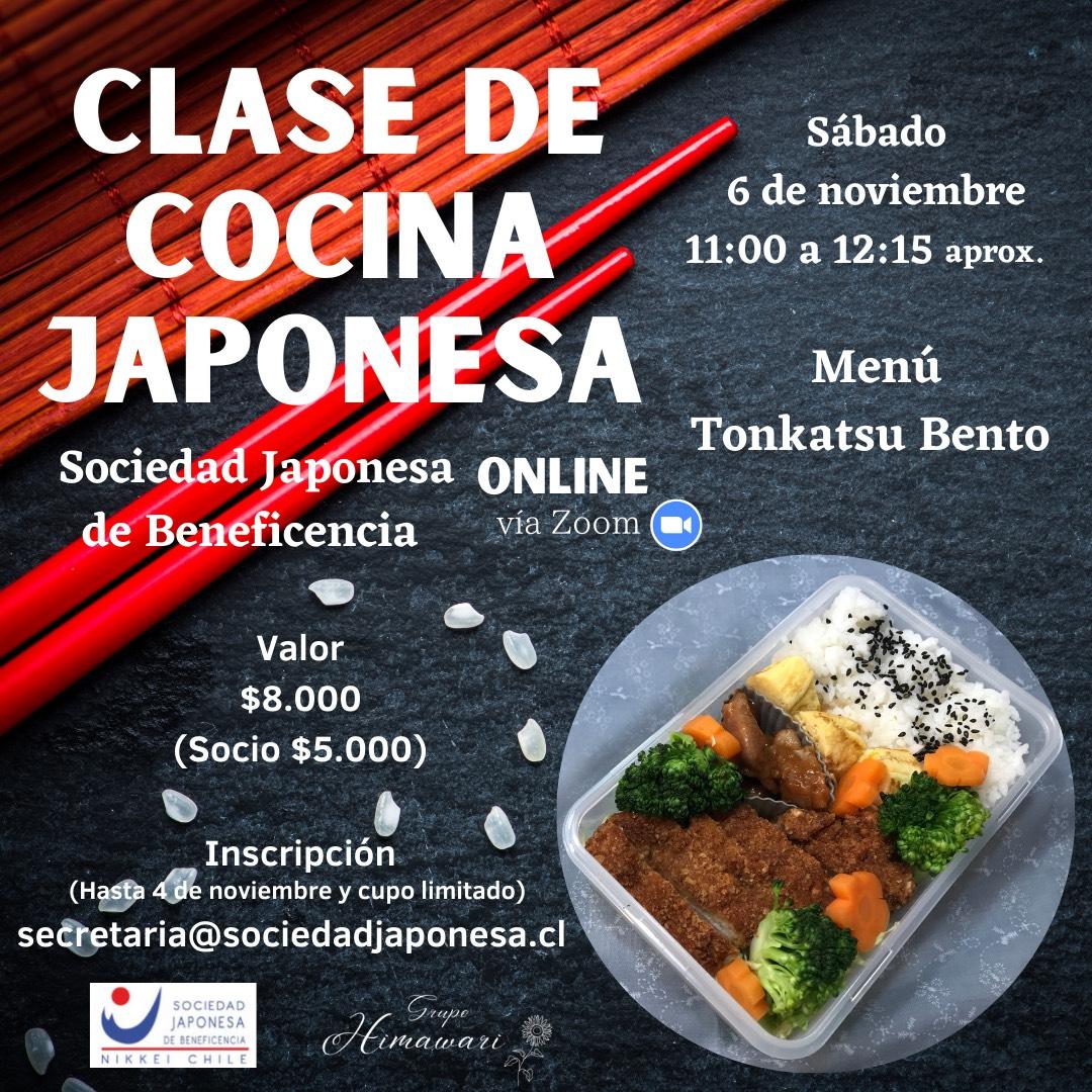 Clase de Cocina Japonesa Online